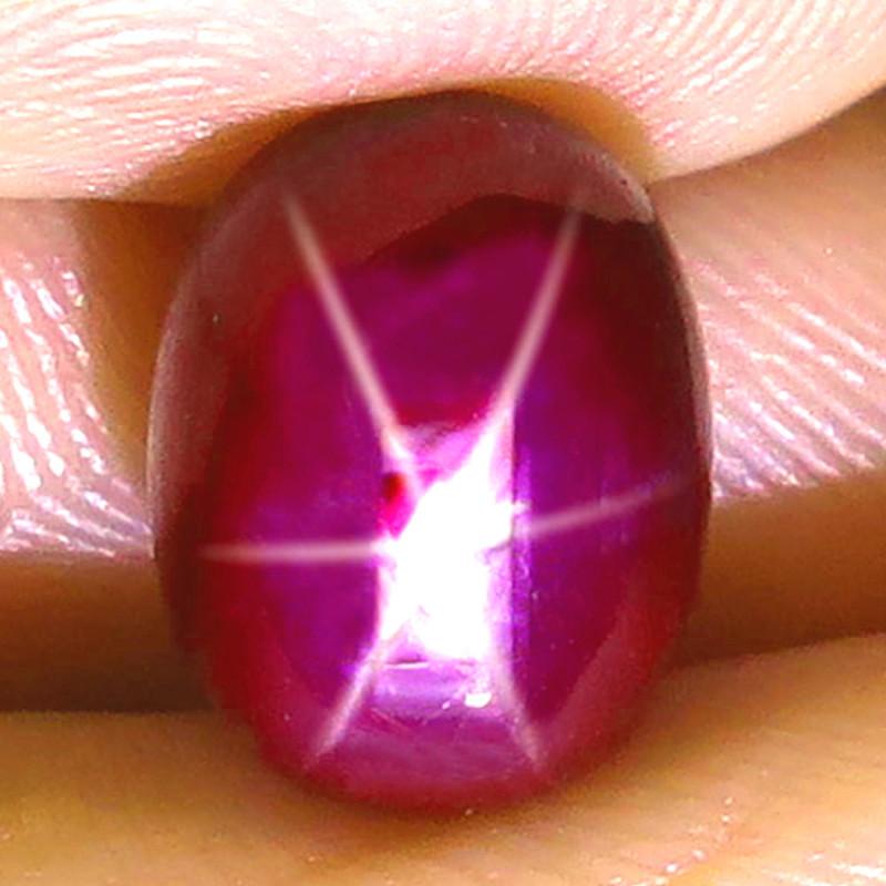7.17 Carat Fiery Ruby Star - Gorgeous