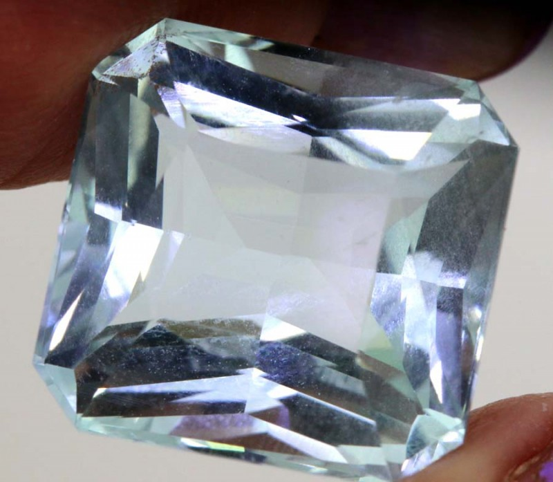 13.78- CTS AQUAMARINE GEMSTONE CERTIFIED  TBM-1491