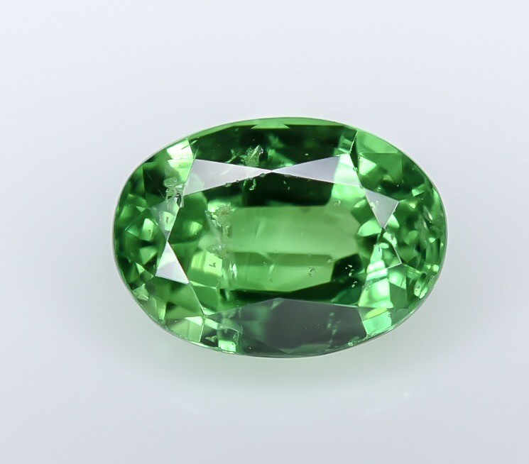 1.33 Crt GIL Certified Tsavorite Faceted Gemstone