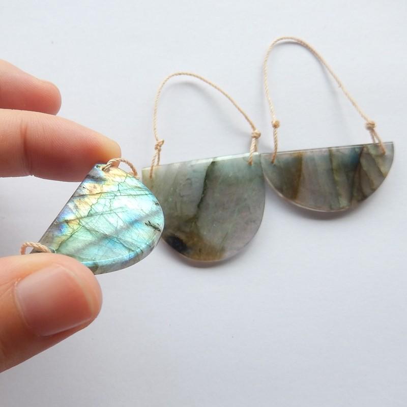 93.5ct Natural labradorite jewelry set customized jewelry  (18091496)