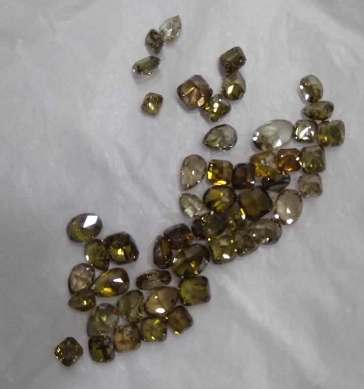 15.00ct Fancy Color Diamond Parcel , 100% Natural Untreated Diamonds