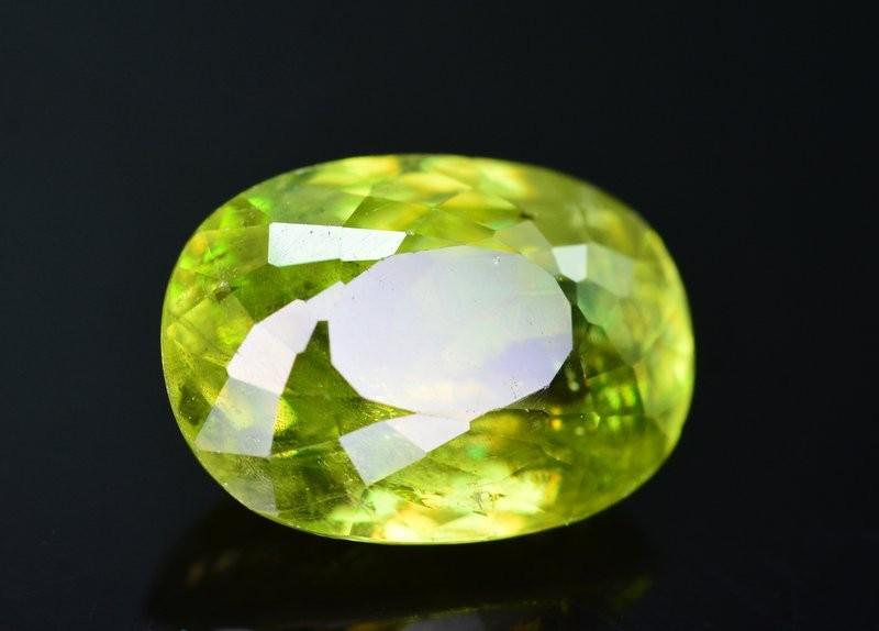 Top Dispersion 4.65 Ct Natural Titanite Sphene