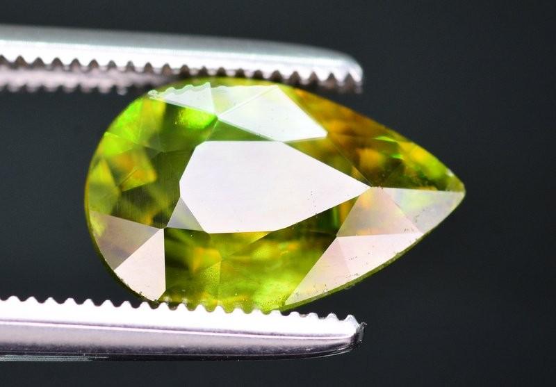 Top Dispersion 2.65 Ct Natural Titanite Sphene