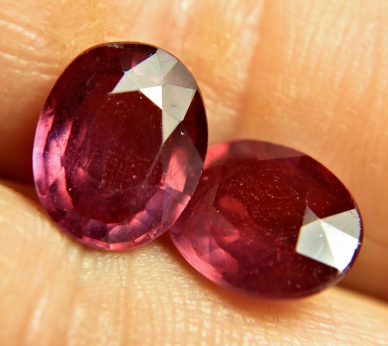 8.33 Tcw. Fiery, Flashy Matched Rubies - Gorgeous