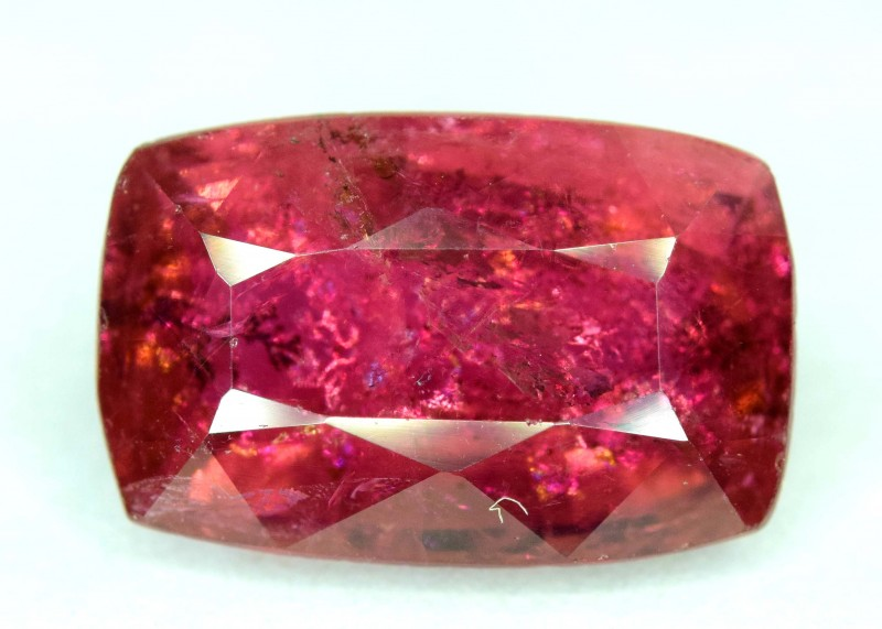 5.80 Carats Radiant Cut Rubellite Tourmaline Gemstone From Afg