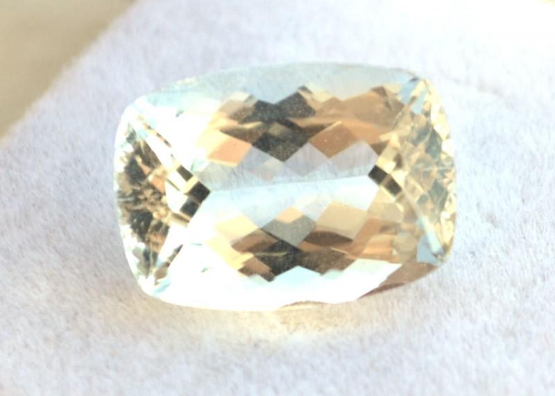 6.79 Carat Aquamarine -- Nice Cushion Checkerboard Cut Stone