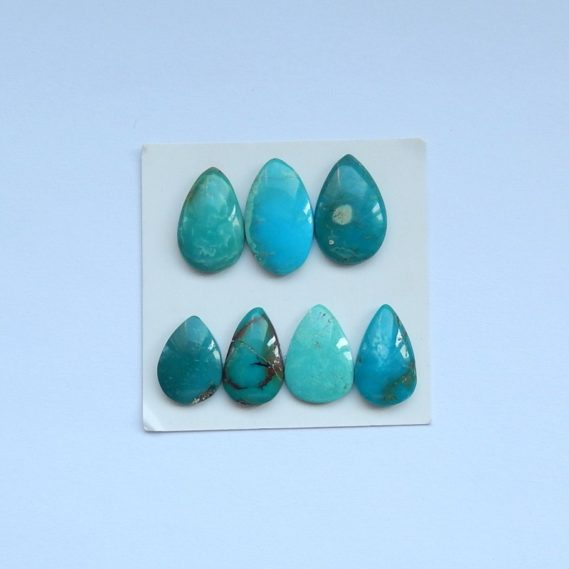 21.5ct Natural turquoise cabochon beads  semi-precious stones (A12)