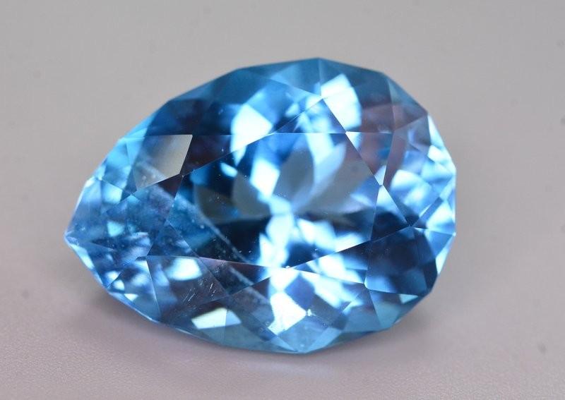23.80 Ct Natural Fancy Pear  Shape Blue Topaz Gemstone