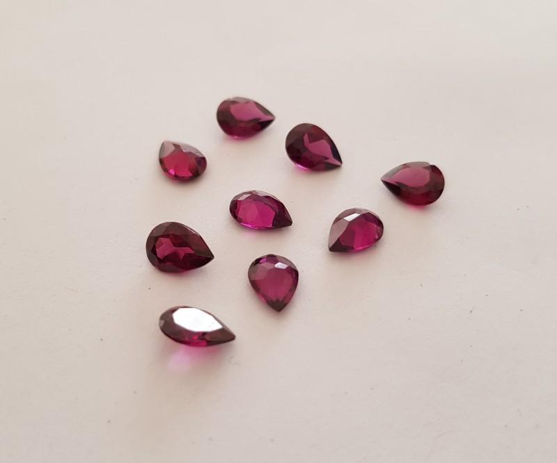 7.25 cts Purple garnet parcel 9 pieces #G0057