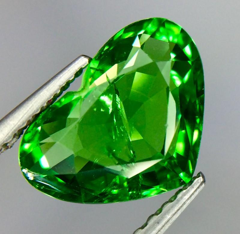 2.06 Crt Natural Tsavorite Garnet Sparkling luster Faceted Gemstone(Ts 03)