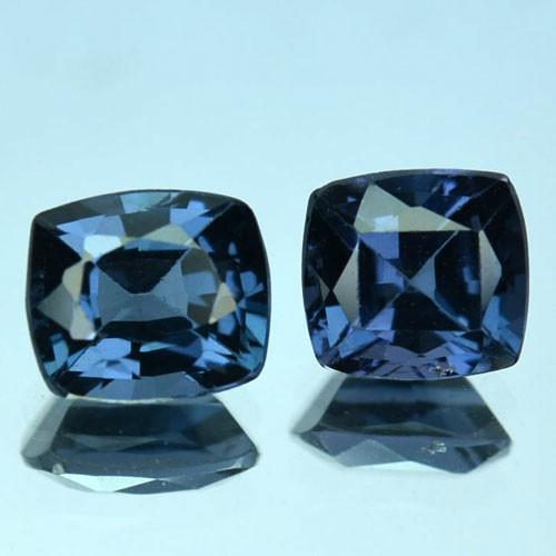 1.57 Cts Natural Blue Spinel Cushion 2Pcs Srilanka