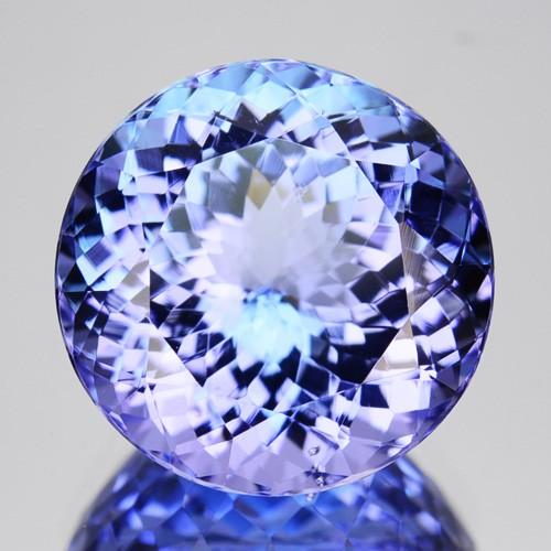 ~BEAUTIFUL~ 5.44 Cts Natural Nice Purple Blue Tanzanite Round Cut Tanzania