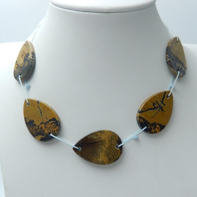 88cts Natural chohua jasper necklaces semi-precious stones (A129)