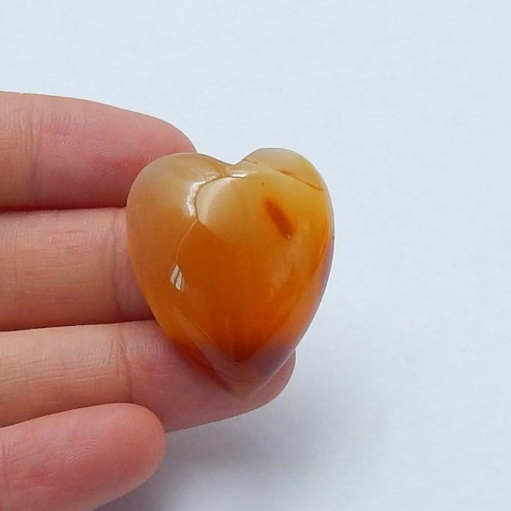 59.5ct Natural agate heart shape  cabochon beads  semi-precious stones (A13