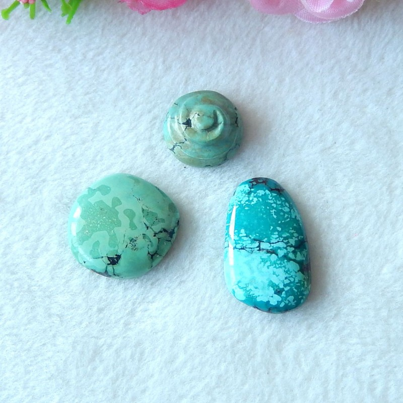 41.5ct Natural turquoise cabochon beads semi-precious stones (A99)