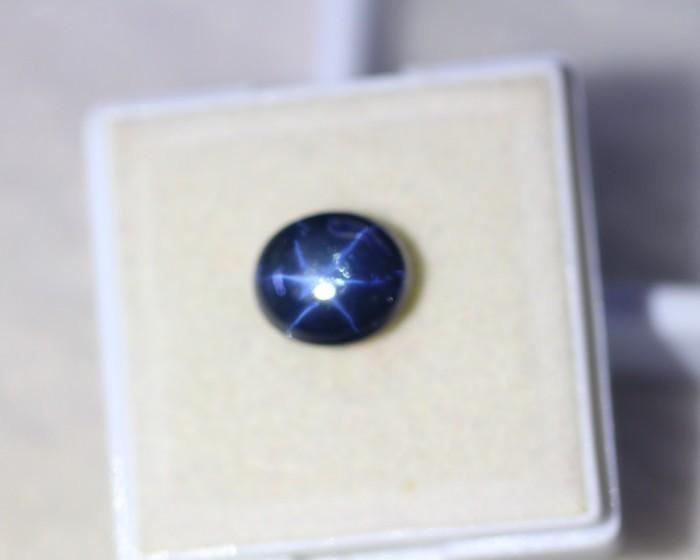 3.77ct 6 Rays Star Blue Sapphire Lot S20