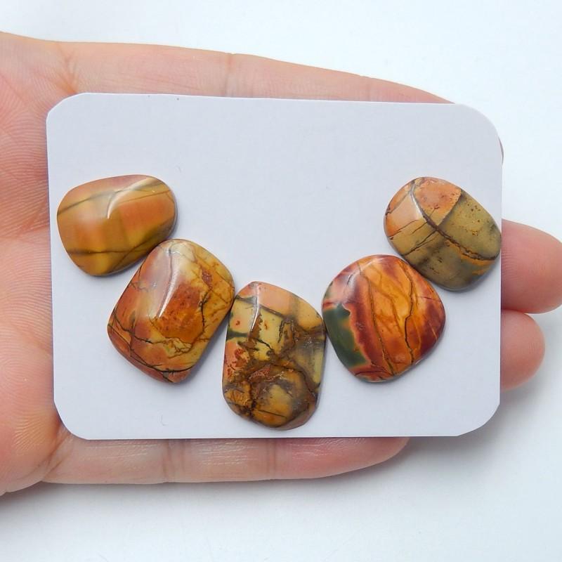 39cts Sale natural multi color jasper cabochon beads (A147)