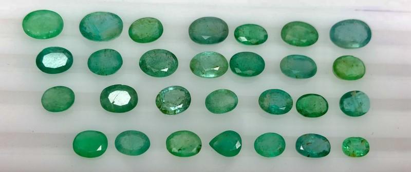 26.70 Crt Emerald Parcels Faceted Gemstone Lot 1