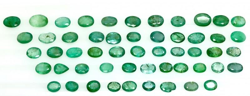 50.0 Crt Emerald Parcels Faceted Gemstone Lot 5