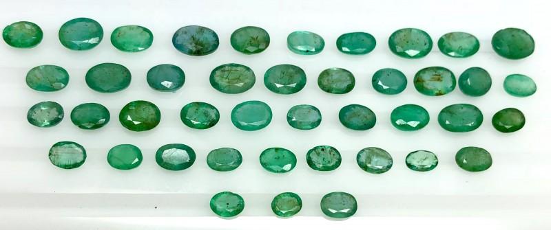 40.30 Crt Emerald Parcels Faceted Gemstone Lot 6