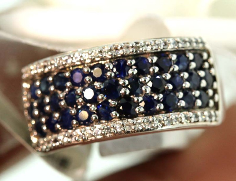 22-CTS SAPPHIRE RING BLUE AND WHITE   SG-2787