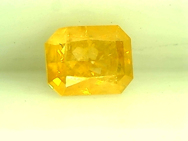 0.25ct Fancy Vivid Yellow  Diamond , 100% Natural Untreated
