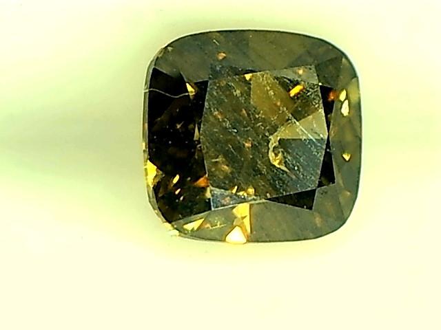 0.49ct Fancy Deep Brownish Green  Diamond , 100% Natural Untreated