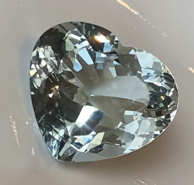 Prime 24.75ct Heart Facet Natural Blue Topaz