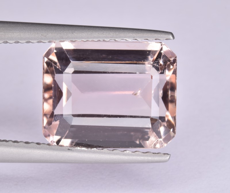 Natural Topaz Peach-Pink Color 4.20 Cts from Katlang, Pakistan