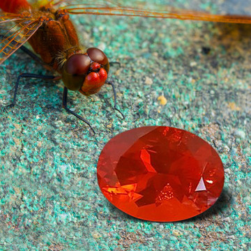 1.63 CT MEXICAN FIRE OPAL - MASTER CUT! CHERRY RED!