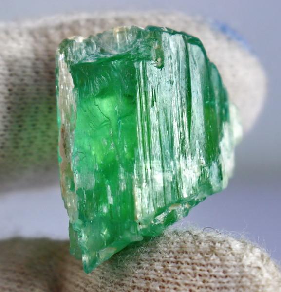 63.00 CT Natural - Unheated Green Hiddenite Crystal Rough