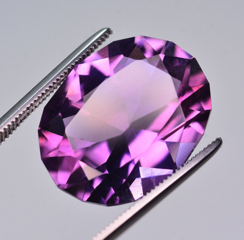 12.10 Ct Amazing Color Natural Amethyst ~ Uruguay AM1