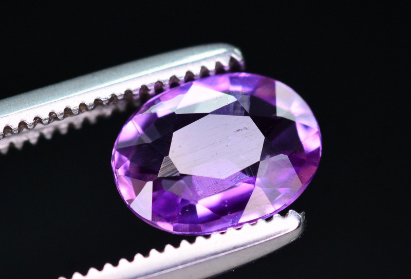 GIL Certified 0.97 Ct Natural Purple Sapphire