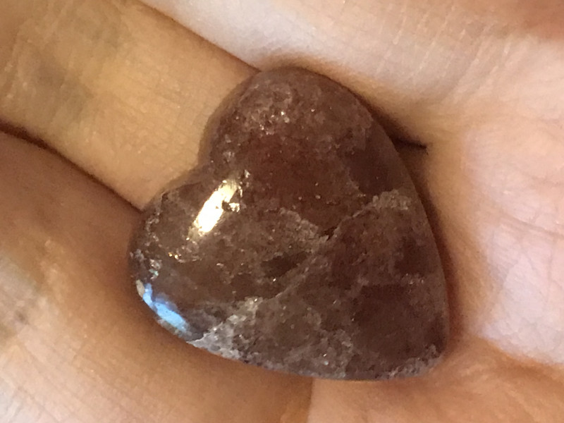 Beautiful Sunstone Heart