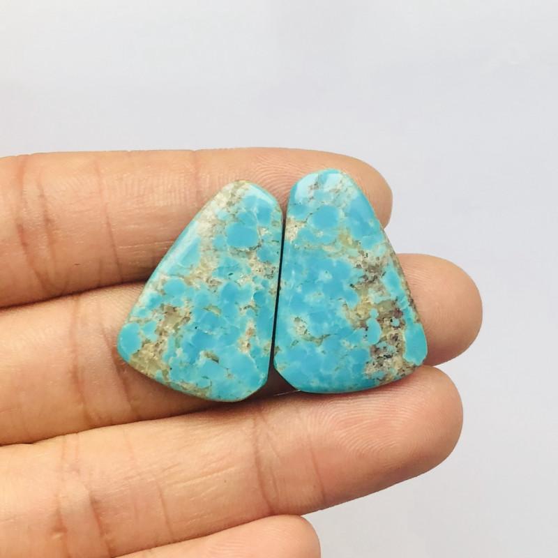 22.5cts Unique natural turquoise cabochon beads semi-gem (A244)