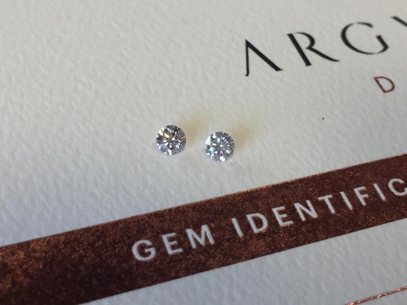 2 = 0.26ct NCP SIAV Certified Argyle Pink Diamonds