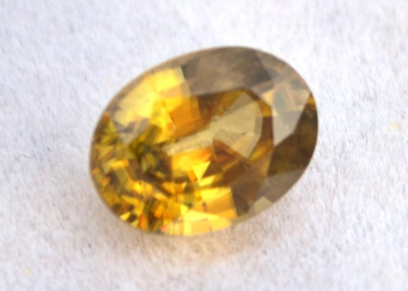 2.13 Carat Sphene -- Fiery Oval Cut Stone
