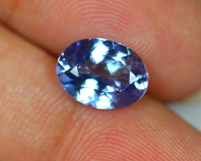 2.91Ct Violet Blue Tanzanite Oval Cut Lot LZB302