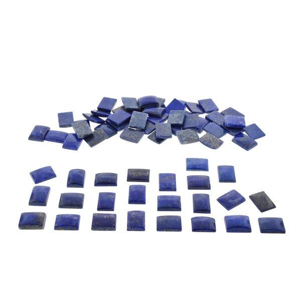 200 cts Lapis Lazuli 27 st. 14x10mm Emerald Cut - $1 No  Reserve Auction