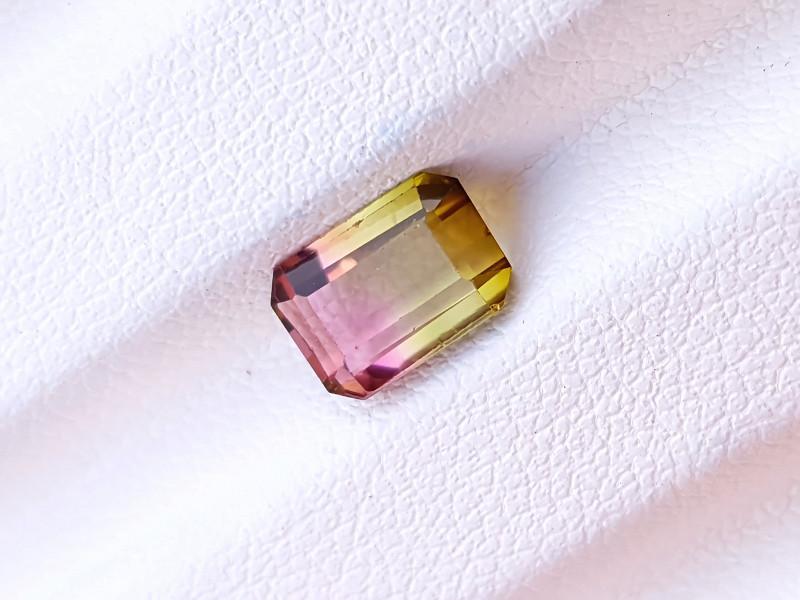 1.65 Ct Natural Bi Color Transparent Tourmaline Paprock Afghanistan Gem