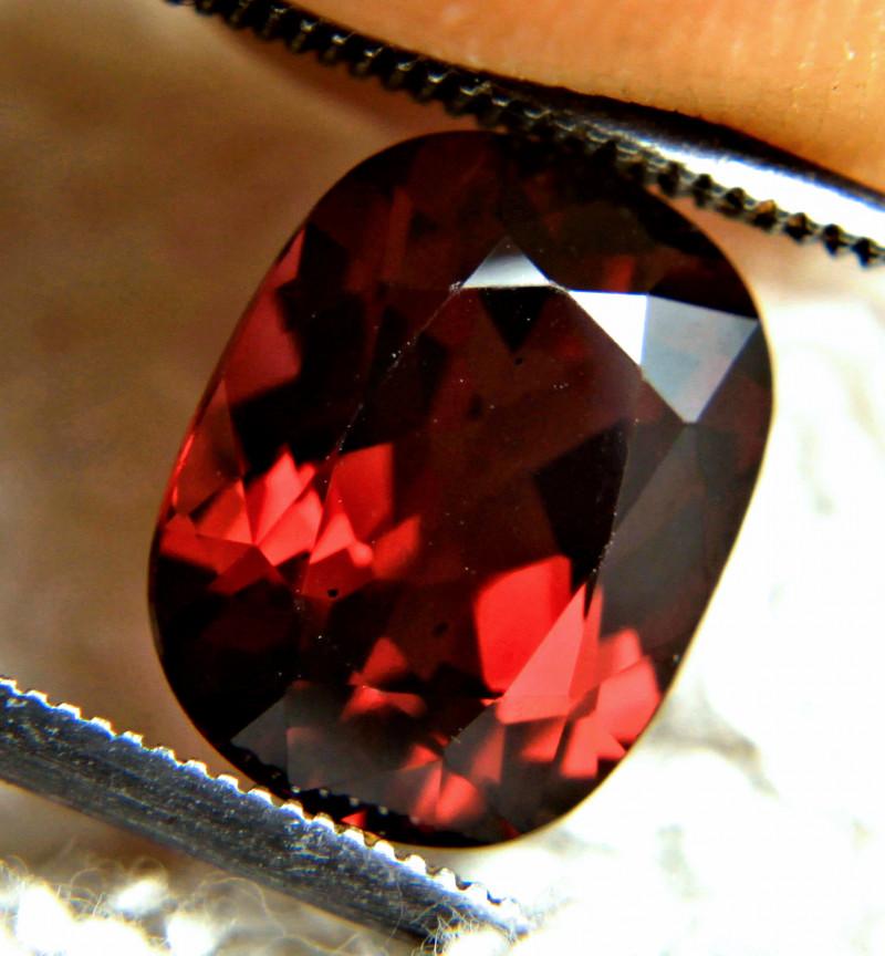 4.37 Carat Flashy Red VVS African Rhodolite Garnet - Gorgeous