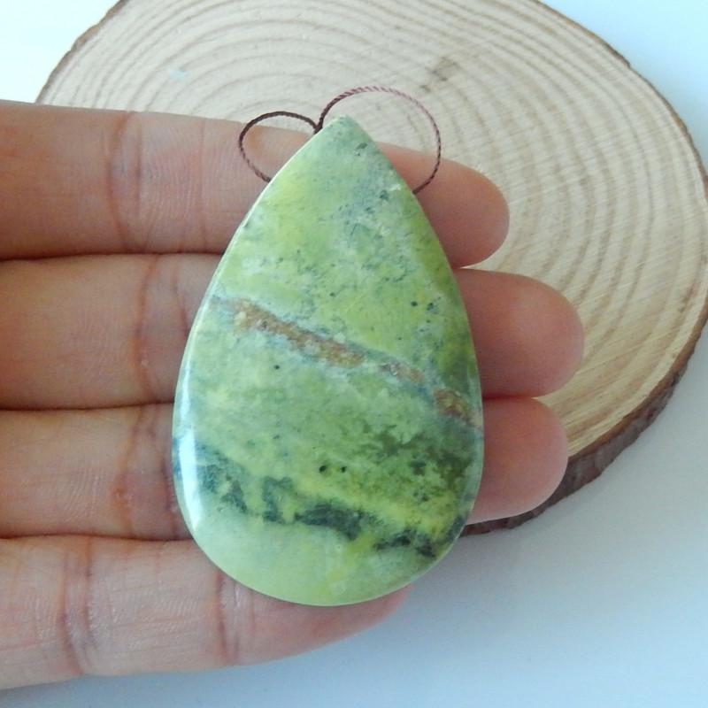 109.5cts Sale  natural serpentine oval gemstone pendant bead semi-gem (A347