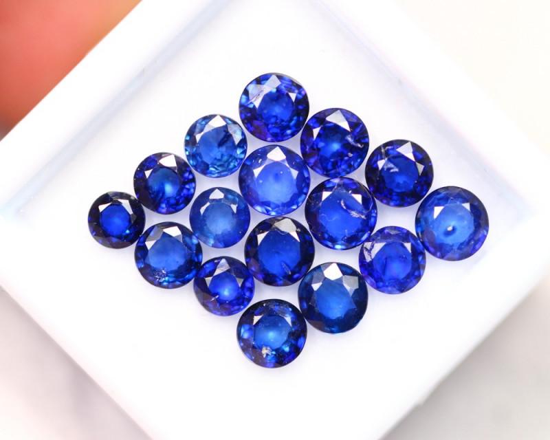 5.50Ct Natural VS Clarity Ceylon Navy Blue Sapphire Round Cut ~ B05/4