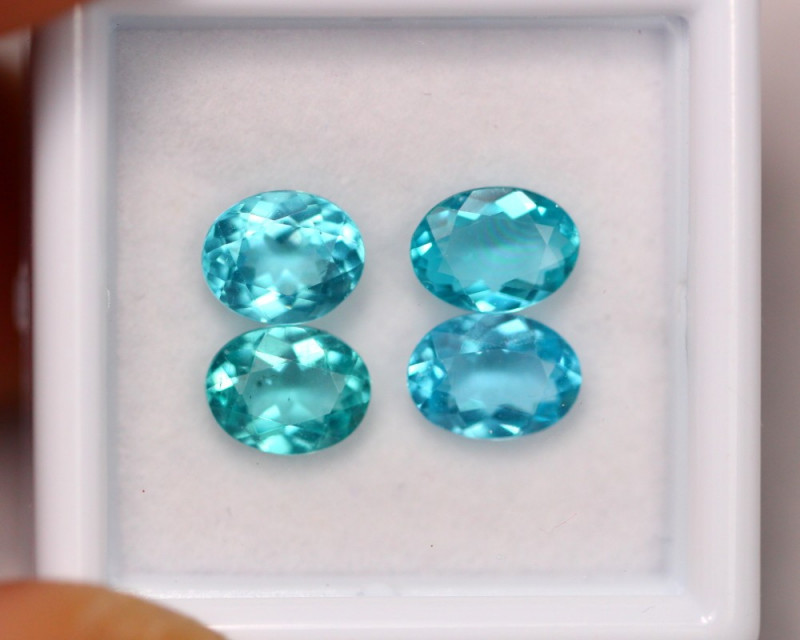 3.23Ct Natural VS Clarity Paraiba Color Apatite Pairs~ B05/12