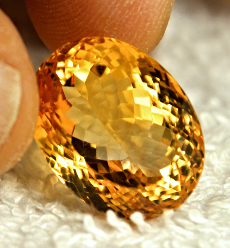 25.9 Carat Vibrant Golden VVS Citrine - Gorgeous