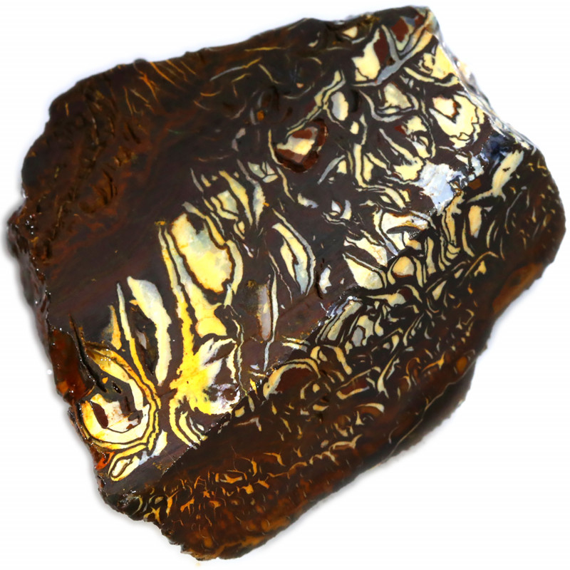 188.25 CTS CHOCOLATE  IRONSTONE WITH  WHITE  SILICA [F7756]