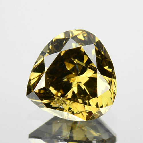 0.36 Cts Natural Green Diamond Pear Africa