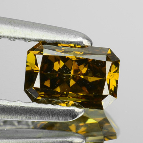 0.54 Cts Natural Brownish Green Diamond Octagon Africa