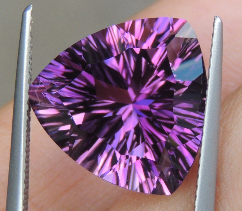 9.28cts, Amethyst,  Top Cut, Clean, Untreated, Concave