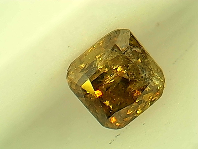 0.20ct  Fancy Deep orangish brownish Green Diamond, 100% Natural Untreated